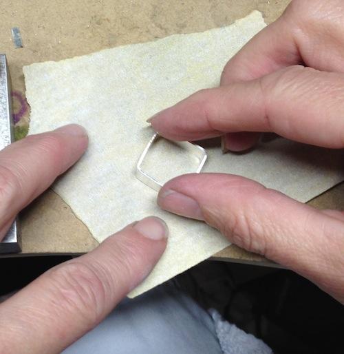 Sanding the Frame Flat