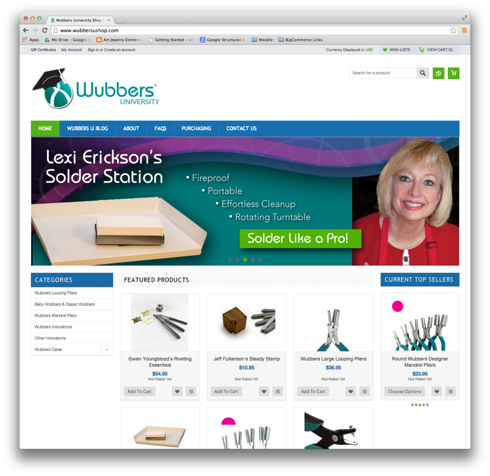 Wubbers University Shop created with BigCommerce