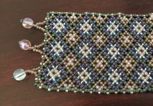 Pattern made with Toho seed beads