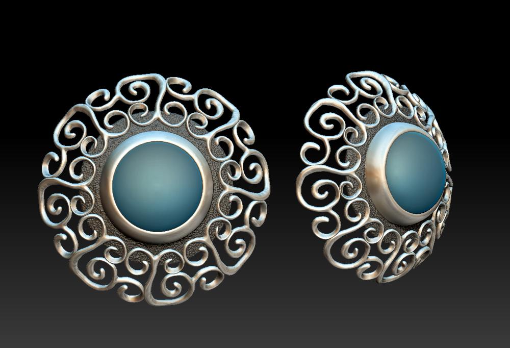 Experimental Scroll Earrings