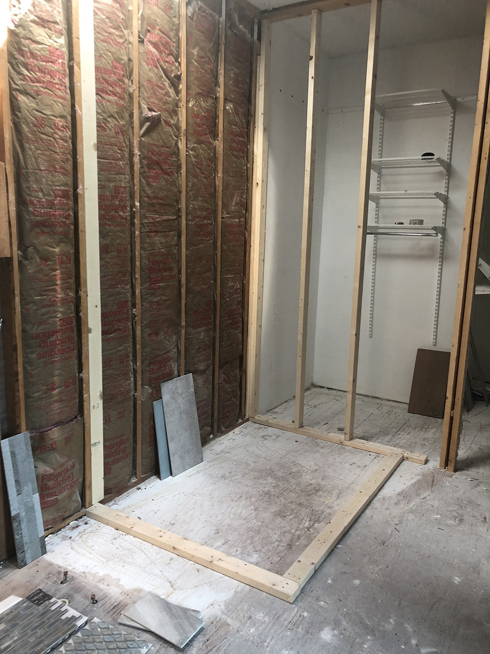 Framing the Shower