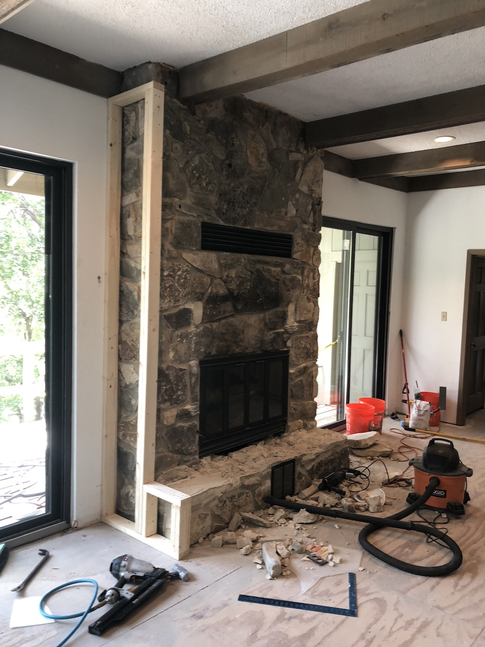 Covering the Fireplace