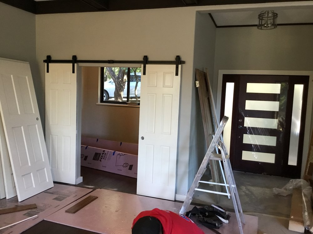 Barn doors installed