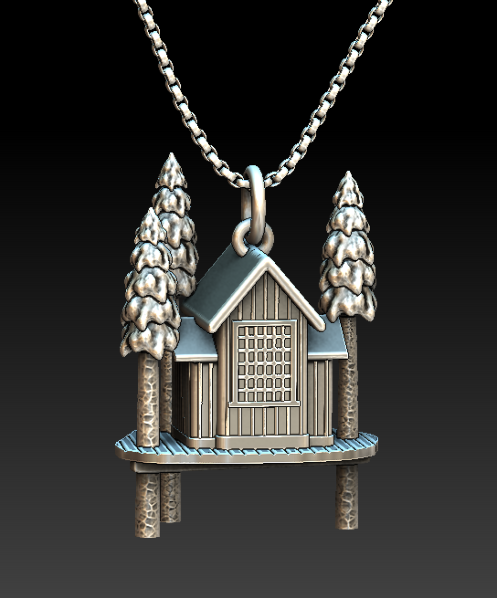 A proof-of-concept charm based on  Pete Nelson's Fall City treehouse