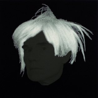 "Sir Peter Blake ""Andy Warhol II,"" 2004. Giclee print with diamond dust."