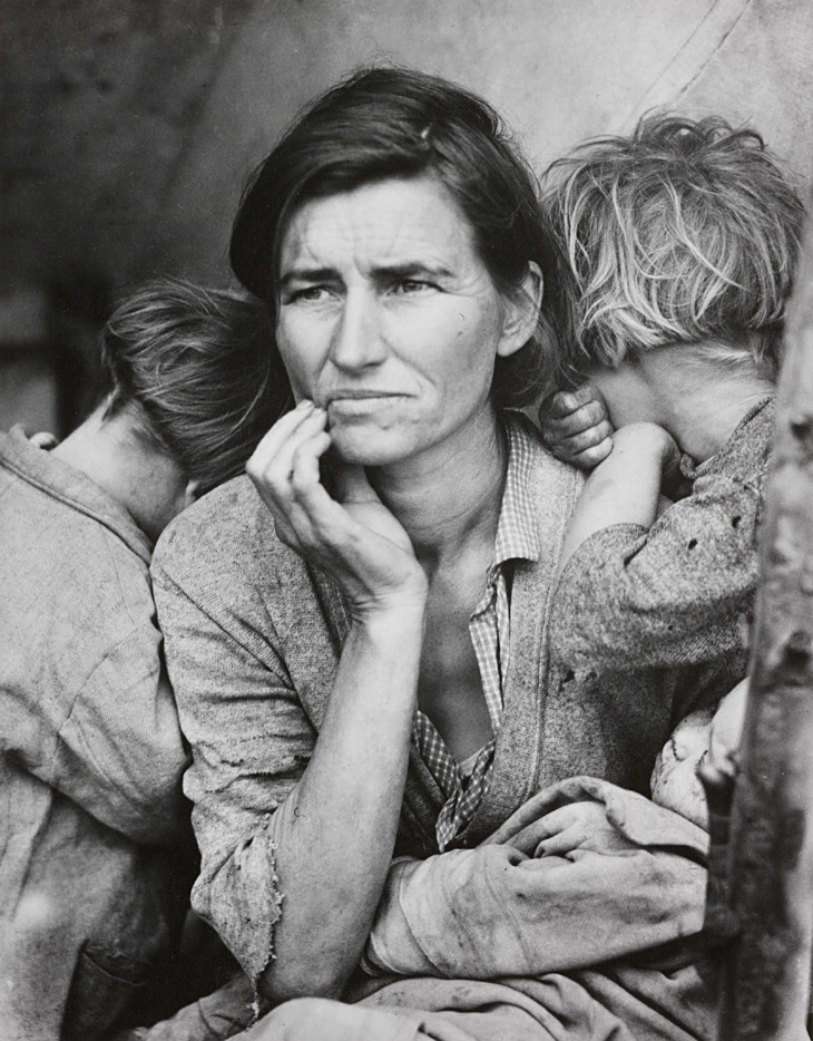 Dorothea Lange,  Migrant mother, Nipomo, California,1936,(ca. 1985 printed)   Photogravure