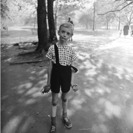 Diane Arbus,  Child with Toy Hand Grenade, 1962.  Gelatin silver print