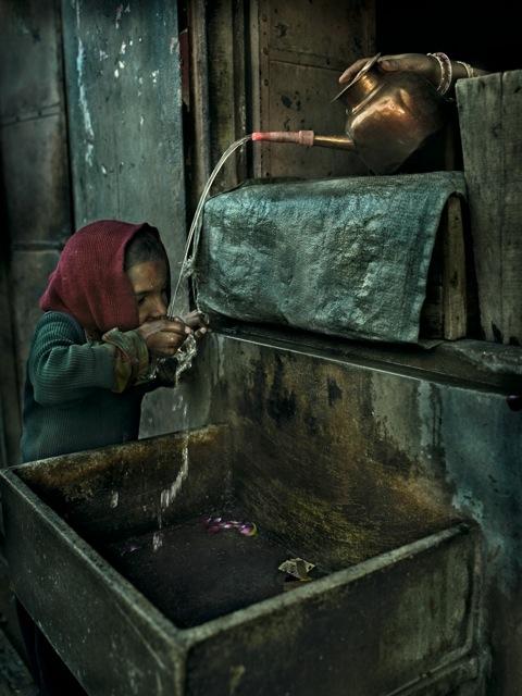 Andreas Bitesnitch,  Girl in Jaipur India,  2011. C-print