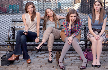 GIRLS, now in its 4th Season, on HBO.