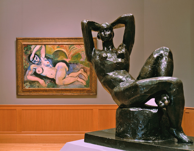"Henri Matisse's  Blue Nude (""Souvenir de Biskra"") , 1907, and  Reclining Nude I, (Aurore) , 1907. © 2006 Succession H. Matisse, Paris/Artists Rights Society (ARS) New York.  Photo by Erik Kvalsvik."
