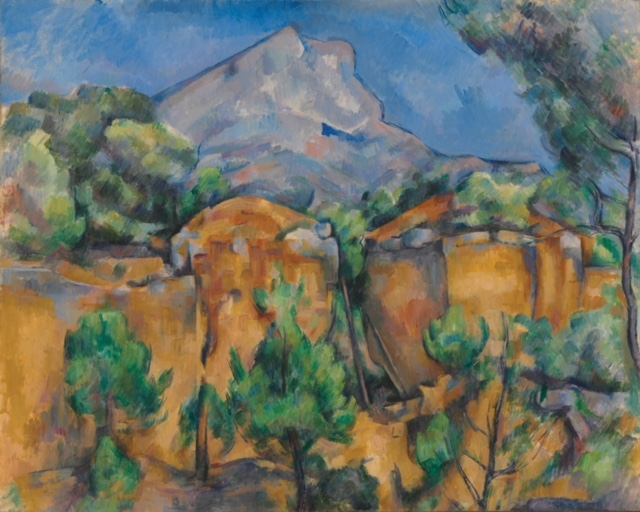 Paul Cézanne.  Mont Sainte-Victoire Seen from the Bibémus Quarry.  c. 1897. The Baltimore Museum of Art: The Cone Collection. BMA 1950.196