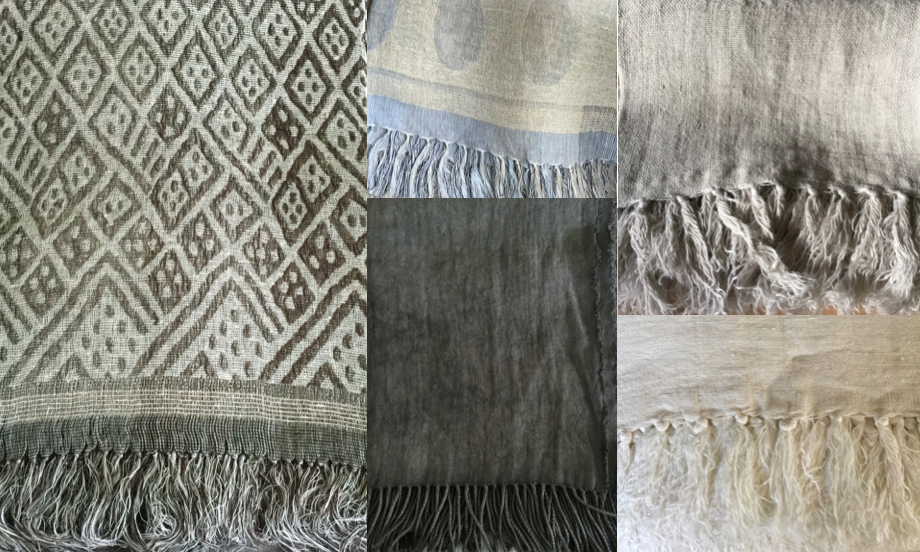 L-R: Chain Print Throw, Polka Throw, Stonewashed Hand Dyed Linen Throw, Rikke Linen Throw Grey, Rikke Linen Throw Off White. All available  here .