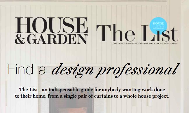 House & Garden The List