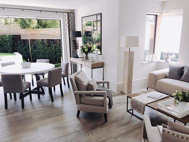 Spring is arriving finally which means bifolds back for this area and seating focused around the windows. #interiors #interiordesign #home #design #style #lifestyle