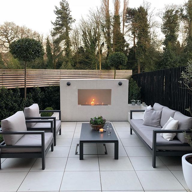 Garden fires create a perfect focal point for your outdoor area and also allow you to use the area even more. #gardenlife #outdoorliving #furniture