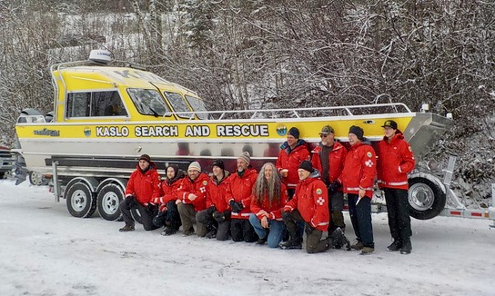 Kaslo Search and Rescue team with new SAR boat.