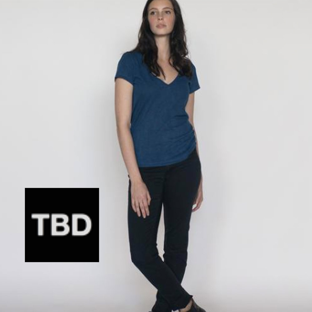 TBD Detroit  has our fabric, here in indigo; cut, sewn and naturally dyed at their HQ in Detroit
