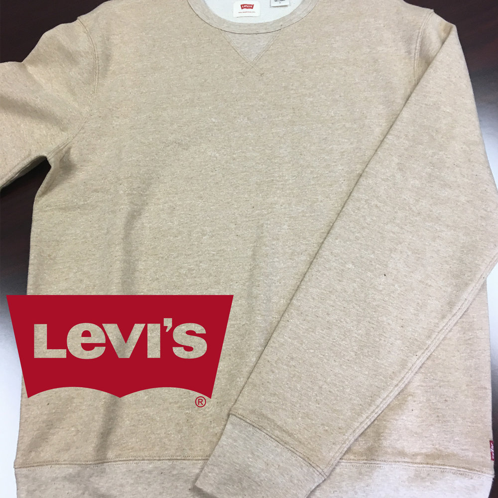 Levis  has our signature French Terry for A Healthy Wardrobe®