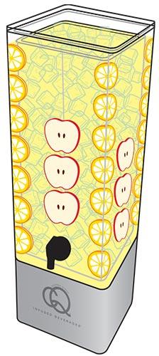 CQ Lemon Apple Infused Water Recipe - Final Beverage Beverage Dispenser Image