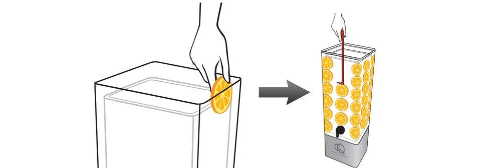 CQ-Black-Raspberry-Açaí-Orange-Spa-Water-Recipe-Step-2-Add-Fruit-Into-BPA-Free-Infusion-Jar