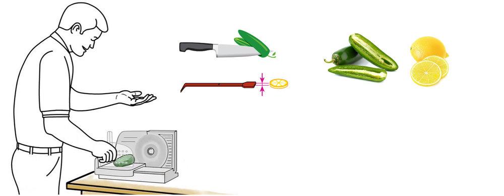 CQ-Black-Raspberry-Acai-Jalapeno-Lemonade-Recipe-Step-1-Cut-Fruit-Using-CQ-Slicer-Key