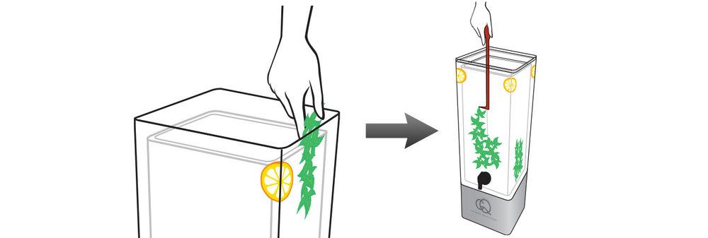CQ-Lemon-Rum-Mix-Cocktail-Mixer-Recipe-Step-2-Add-Fruit-Into-BPA-Free-Infusion-Jar