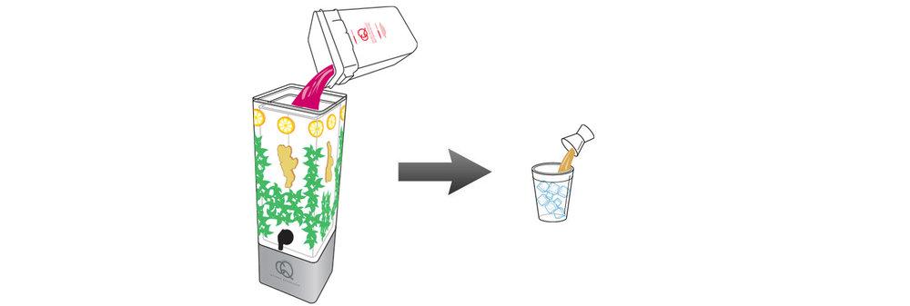 CQ-Lemon-Rum-Mix-Cocktail-Mixer-Recipe-Step-5-Fill-BPA-Free-Beverage-Dispenser-Lemon-Mint-Julep-Cocktail-Mixer