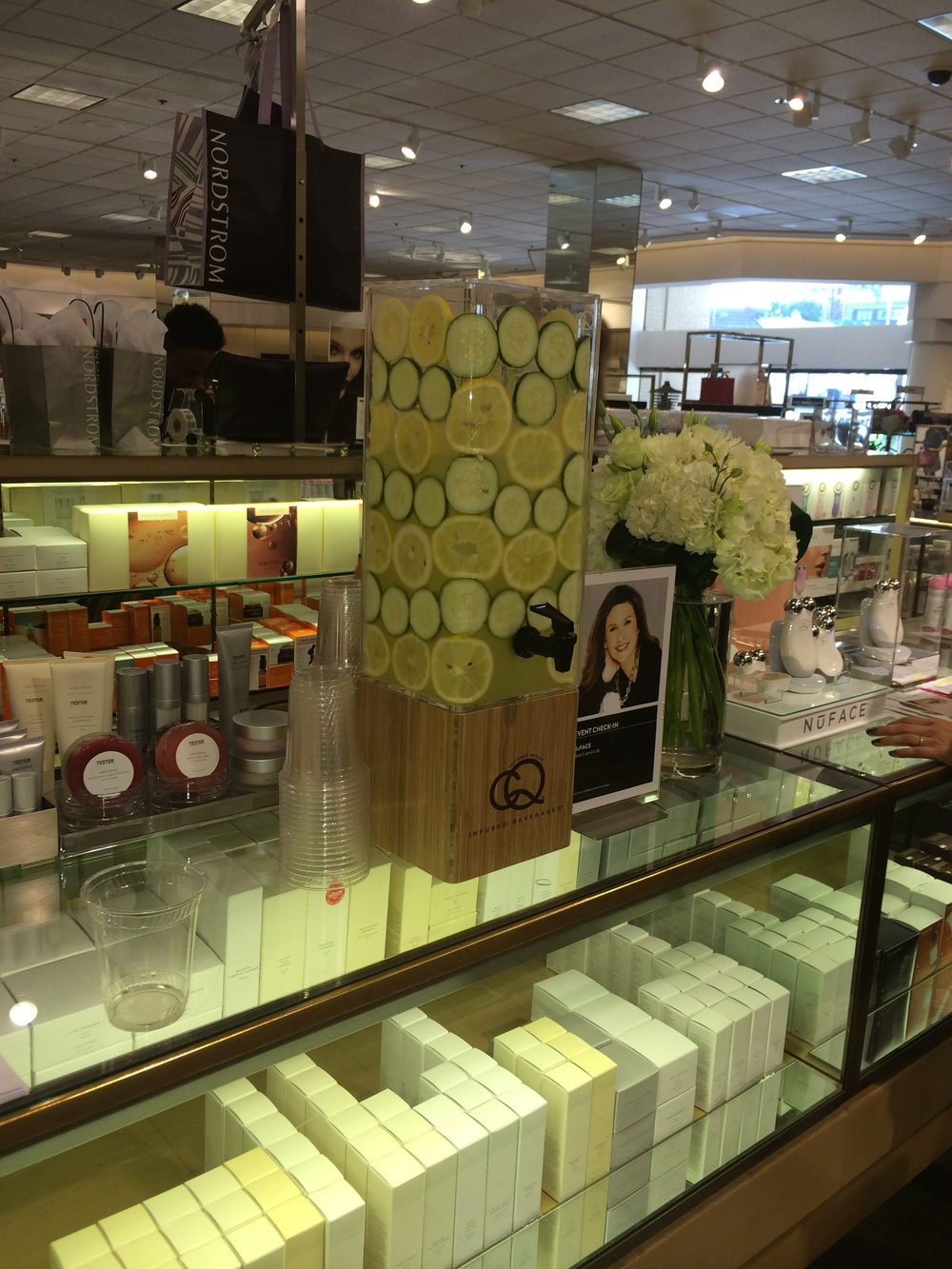 CQ Infused Spa Water - NuFace Promo at Nordstroms