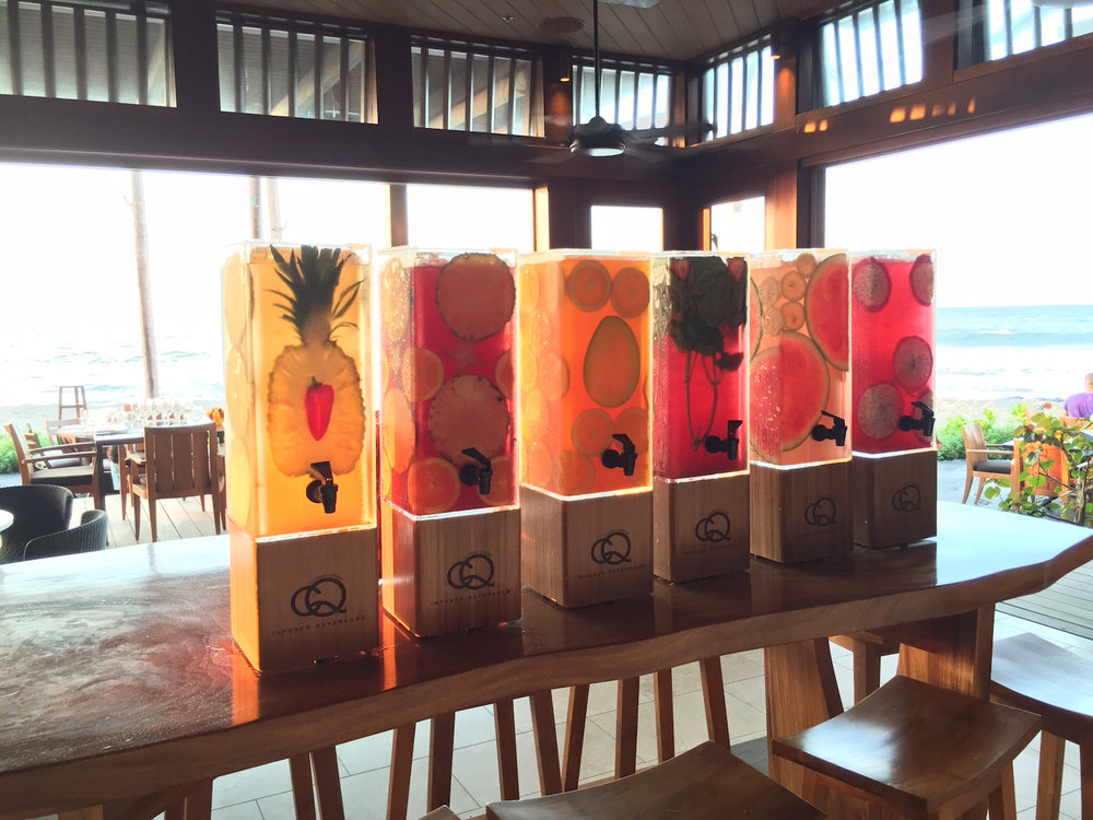 CQ Infused Waters Featured during Chef Fest at The Four Seasons Resort Hualalai