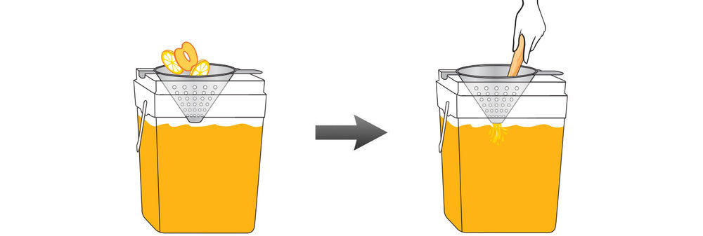 CQ-Peach-Lemon-Lemonade-Recipe-Step-4-Infusing-Water-Fresh-Black-Raspberry-Acai-Lemonade