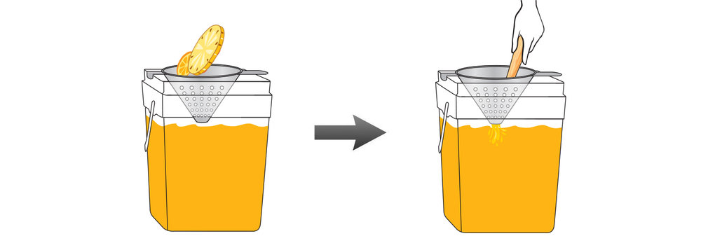 Mango-Pineapple-Orange-Infused-Water-Recipe-Step-4-Infusing-Water-Fresh-MANGO-ORANGE