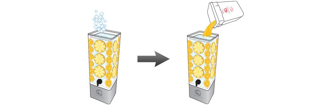 Mango-Pineapple-Orange-Infused-Water-Recipe-Step-5-Fill-BPA-Free-Beverage-Dispenser-MANGO-ORANGE-Infused-Water