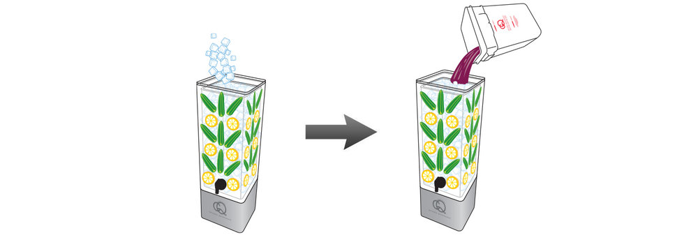 CQ-Black-Raspberry-Acai-Jalapeno-Lemonade-Recipe-Step-5-Fill-BPA-Free-Beverage-Dispenser-Peach-Pineapple-Kiwi-Infused-Water