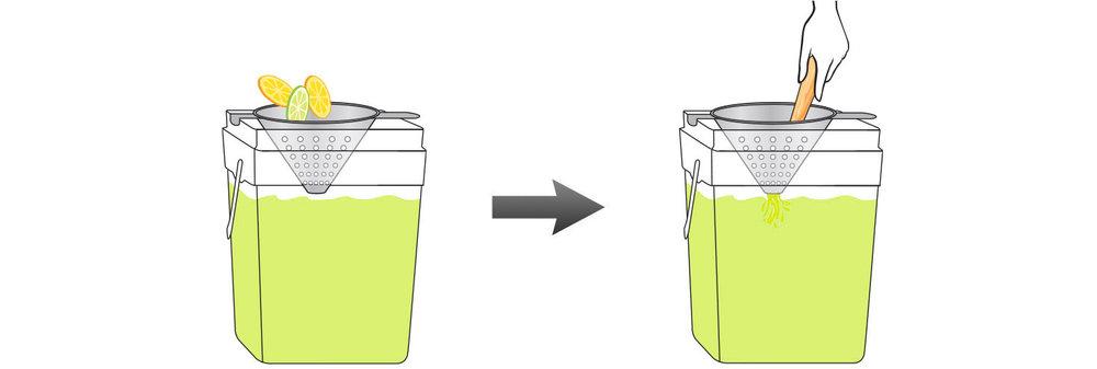 Lemon-Margarita-Mix-Cocktail-Mixer-Recipe-Step-4-Infusing-Water-Fresh-Lemons-Mint
