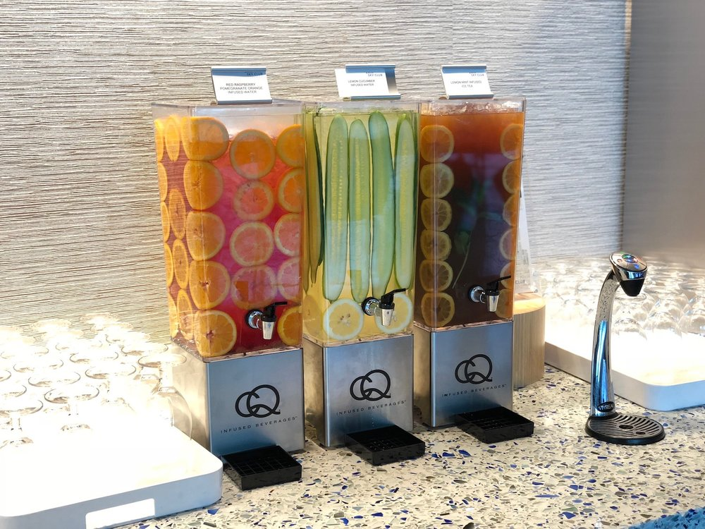CQ Infused Waters & Iced Teas at the Delta Sky Club Seattle