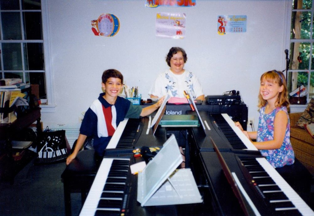 Me with my first piano teacher!