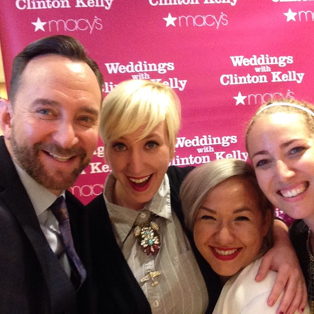 Dear @clintonkellyofficial, Nina and I are over the moon about meeting you today; I can't believe how nervous I got! You are such a huge influence on what we do wish Fashion Penpals. As far as we're concerned, you have been the original arbiter of inclusive style, which is of course, what we're all about! I hope you'll keep October 3, 2015 open, 'cause I'd love to have a Clinton Kelly signature ceremony. In other words, please com officiate my ceremony! I promise I won't need out so much next time, hehe (well, mostly). ❤️ Kat PS - Thanks for validating my bridesmaids color choice 😻. http://ift.tt/11yU2Lz