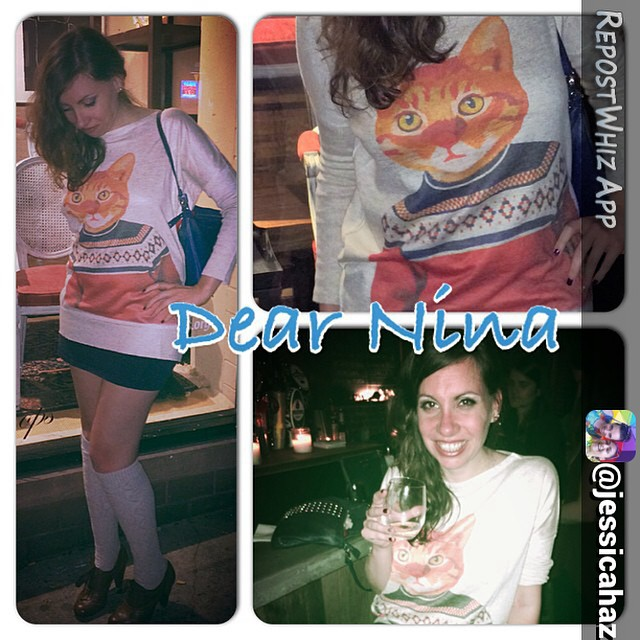 By jessicahaz via @RepostWhiz app: Dear Nina, I know I have owed you a post forever. I am a cat lady through and through so why not show it? Social work can be heavy so I love to lighten it up with fun fashion. Every piece I'm wearing cost less then 20.00. Sweater OASAP.com, skirt and socks h&m, shoes Payless. It's not about how much your clothes cost, it's about how much fun you have wearing them. #fashionpenpals #expessyourself (#RepostWhiz app) http://ift.tt/1sEpmmv