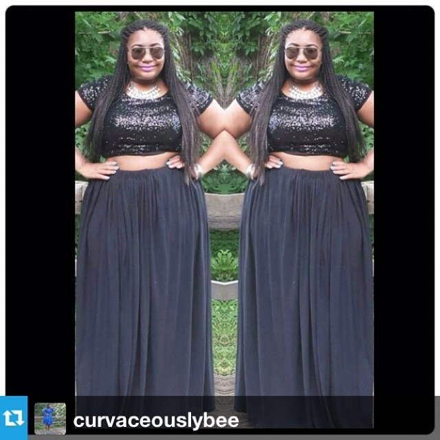 """Dear @curvaceouslybee, You are a stunning pillar of summer disco goth with this look and it's so #sashfierce! How do you keep cool with so much hotness? 😎 Kat —- Did you miss Saturday's blog post? """"Sparkling Black"""" is live at http://ift.tt/1pIcx6C #fullskirtsandmaxiskirts #teamcurvybee #plussizestyle #plussizefashion #cns2 #psblogger #thedopestcurves #plussizelife #bodyconfidence #plussizefashion #boldqueens #honormycurves #boldncurvy #tcfstyle #skorchmagazine #iamskorch #celebratemysize #essencestreetstyle #tmp2http://ift.tt/1pY4Fjg"""