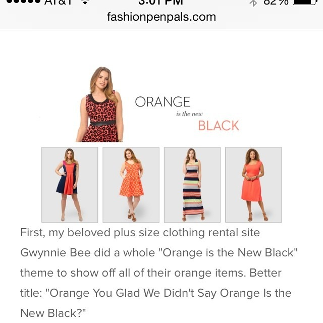 "New blogpost up on fashionpenpals.com! Seriously fashion writers, enough with the ""Orange Is The New Black"" references. #fashionpenpals #fashionblogger #fashion #style #fashionforall #tacky #lazy #orangeisthenewblack http://ift.tt/1lcN19Z"