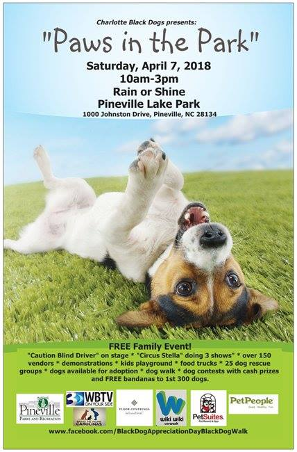 Paws in the Park! - Hey Furfamily,Come out for a Pawrriffic event at the Pineville Lake Park.  Stop by and see us to enter for a free mini photo session.  More info to come...