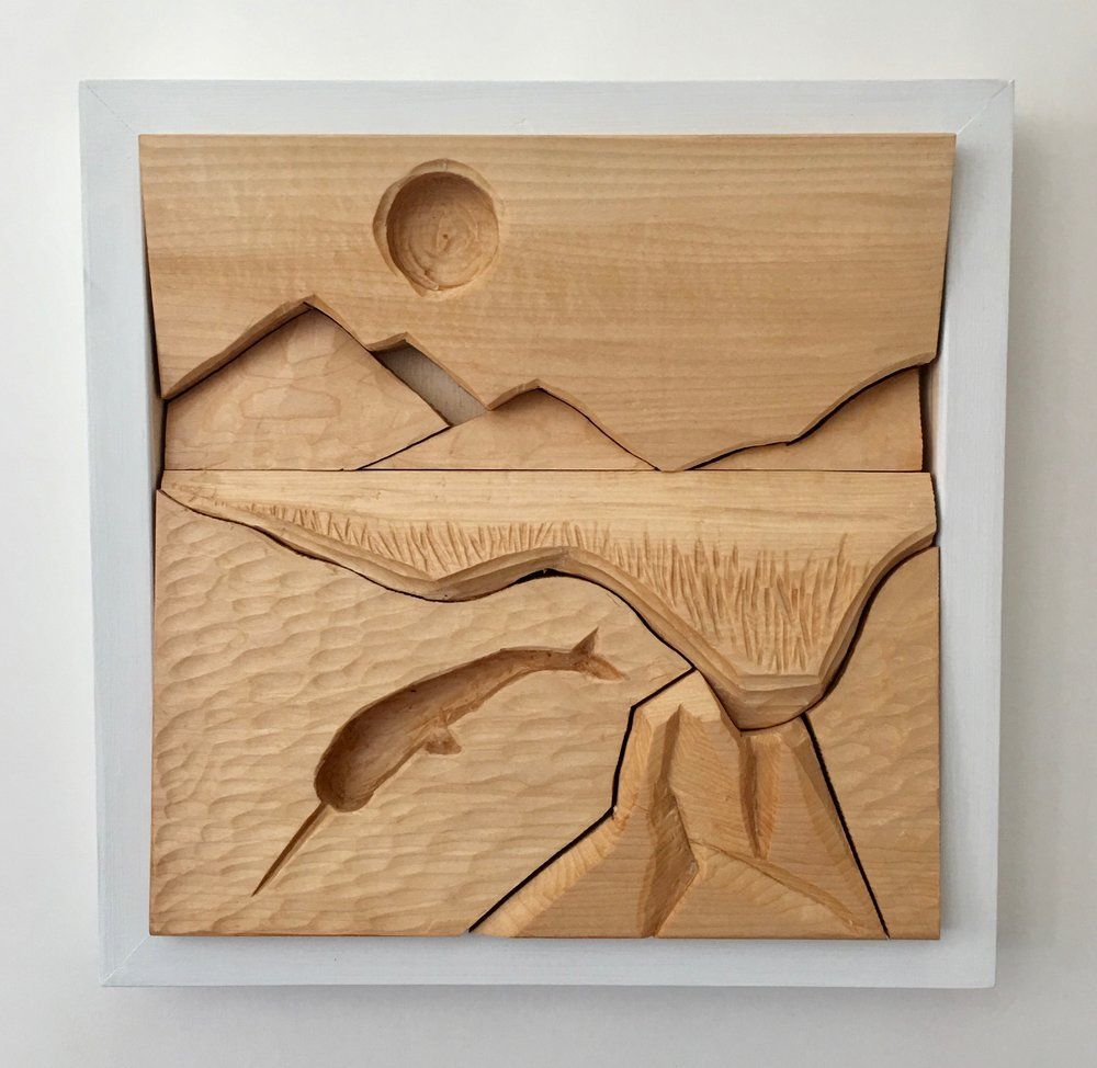 picture-puzzle relief carving