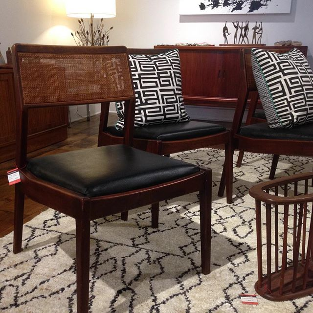 Set of 4 Jens Risom dining chairs #storeclosing #15eaststate #reconsideredhome