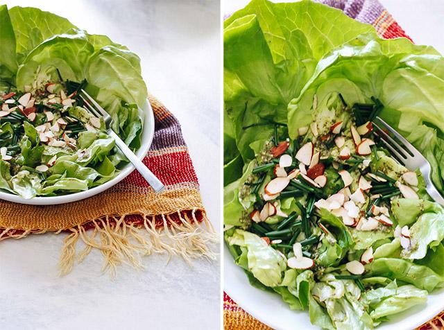 Butter Lettuce & Pesto Salad | StyleComb blog