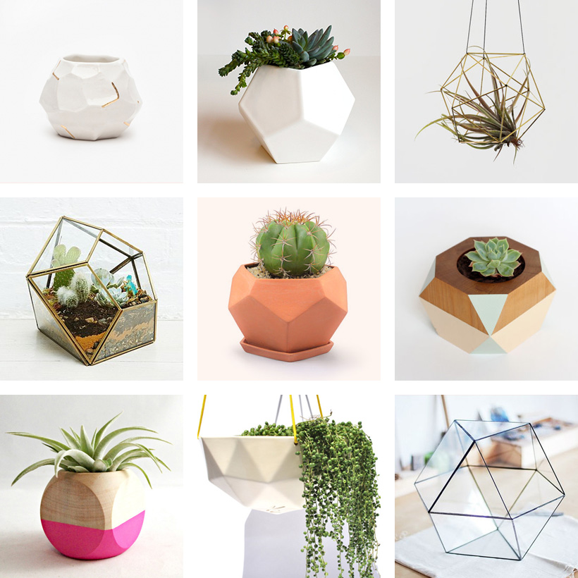Faceted Planters | DesignComb