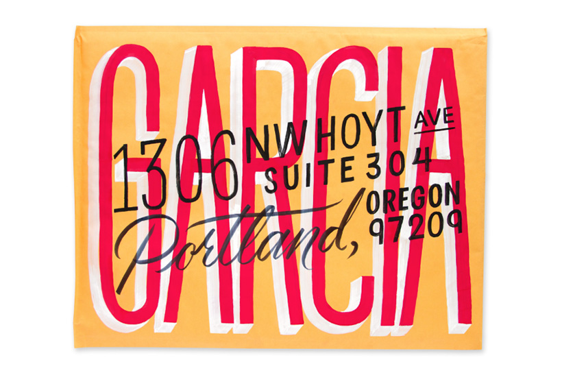 Hand Lettered Envelope from Erik Marinovich'sSkillshare class | DesignComb