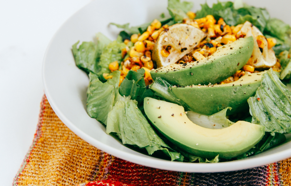 Grilled Corn and Romaine Salad with Cilantro Dressing | DesignComb