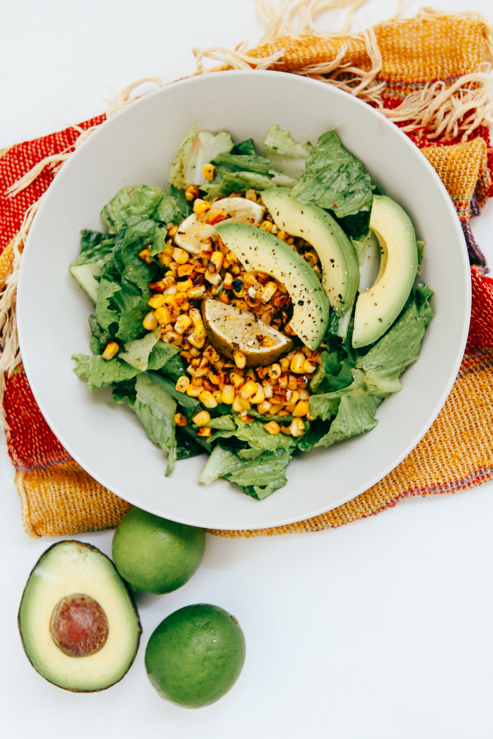 Grilled corn salad with dairy-free cilantro dressing | DesignComb