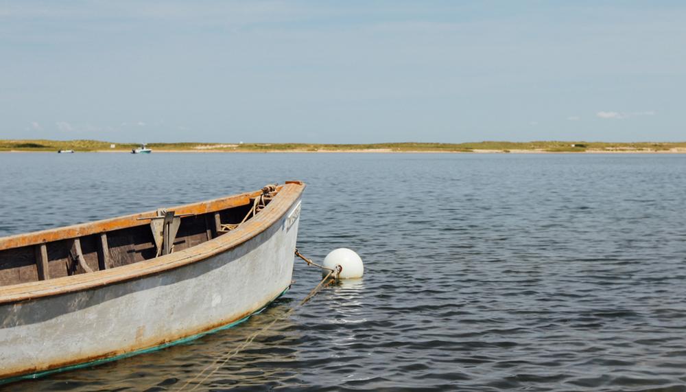 Row boat in the Hamptons | DesignComb