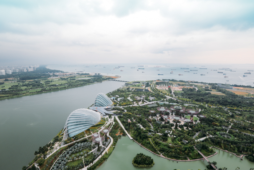 View from the top of Marina Bay Sands in Singapore | DesignComb